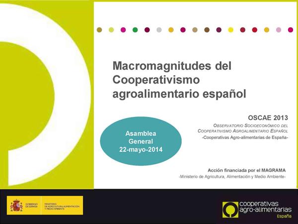 Macromagnitudes del Cooperativismo agroalimentario español 2014