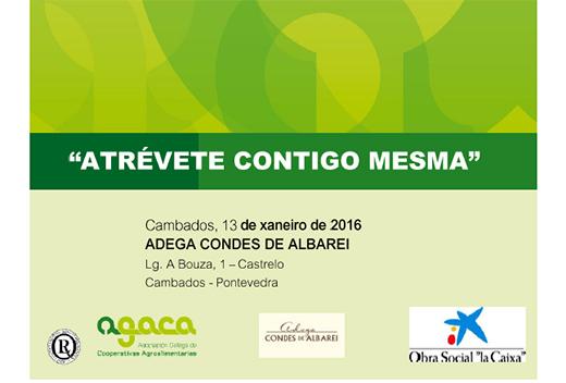 """Condes de Albarei inicia mañá o ciclo 2016 de Xornadas de fomento da igualdade """"Atrévete Contigo Mesma"""""""