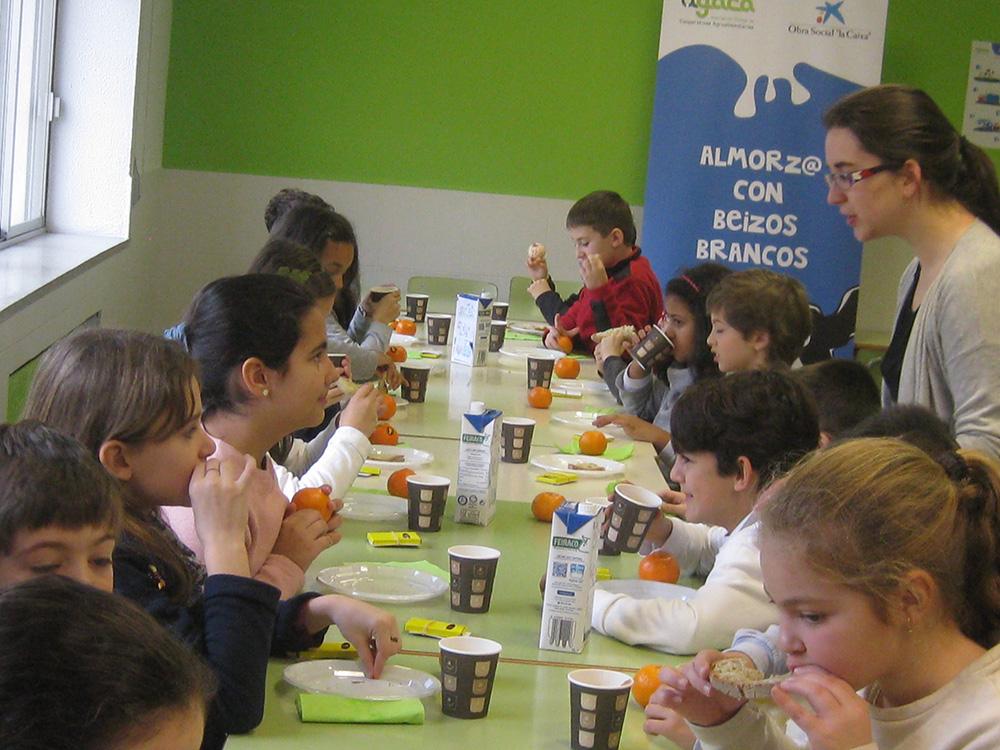 Desayunos saludables y didácticos para escolares de Ourense