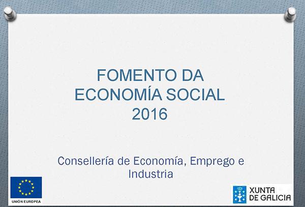 Fomento da Economía Social e o Emprego 2016