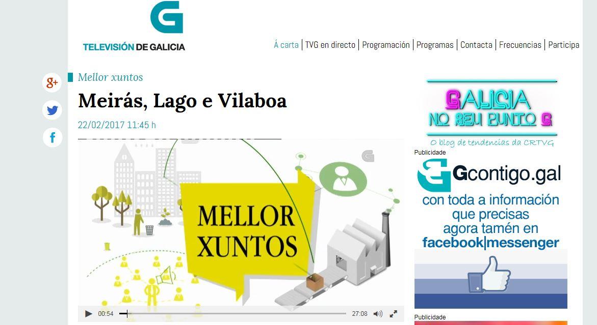 Las cooperativas de Meirás, Vilaboa y Lago, protagonistas en la TVG