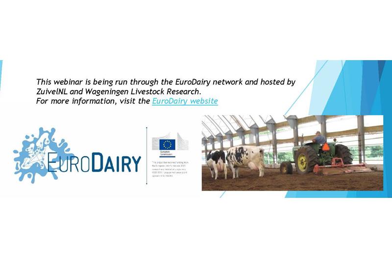 Seminario online de la red EuroDairy sobre cuidado vacuno y materiales para camas el 14 de febrero
