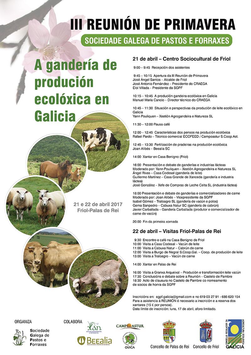 La Sociedade Galega de Pastos e Forraxes celebra la III Reunión de Primavera el 21 y 22 de abril