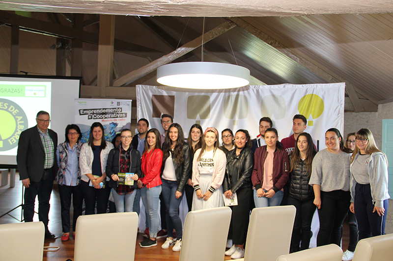 Condes de Albarei acoge por primera vez un taller sobre cooperativismo para estudiantes