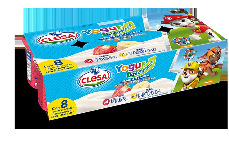 Clesa lanza sus nuevos yogures crecimiento con el sabor ¡Guau!  de La Patrulla Canina