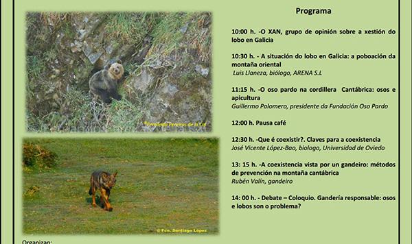 Xornada de O XAN sobre convivencia entre apicultura, lobo e oso o 13 de outubro