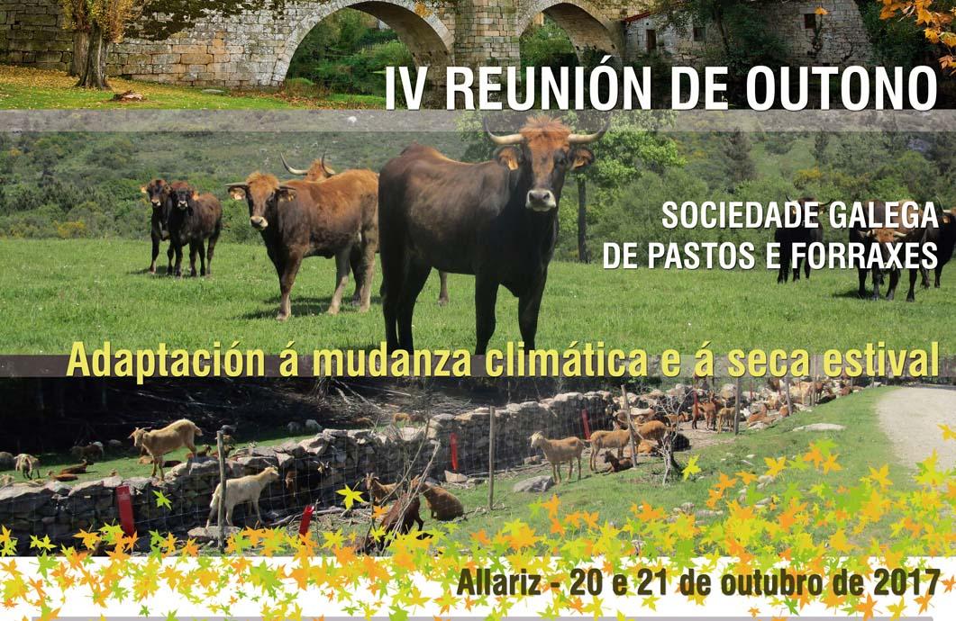 A IV Reunión de Outono da Sociedade Galega de Pastos e Forraxes será o 20 e 21 de outubro