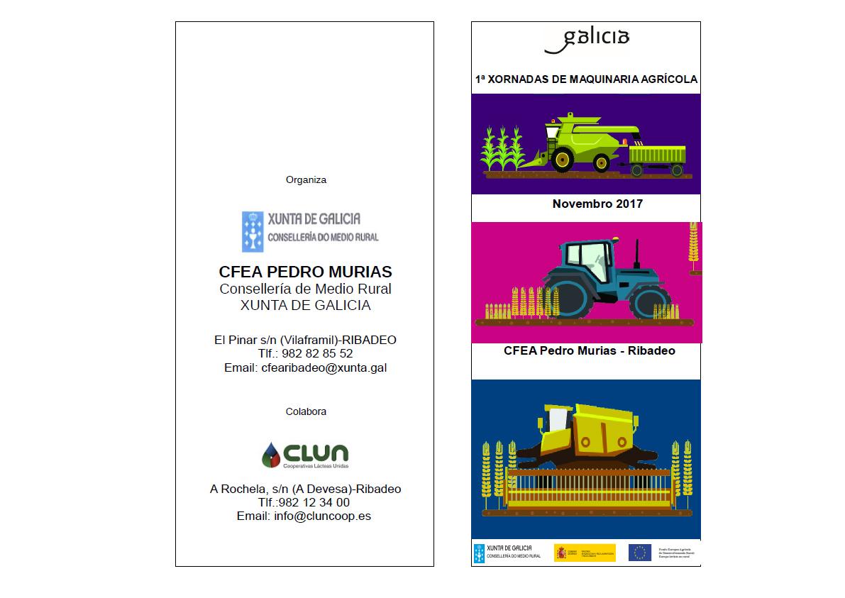 El CFEA Pedro Muras y CLUN organizan sus 1º Jornadas de Maquinaria Agrícola, este mes en Ribadeo