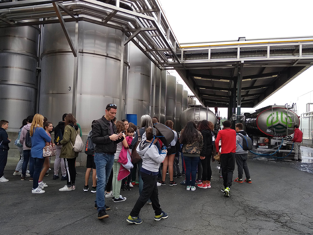 Jornada divulgativa para escolares sobre economía social y sector lácteo en Melide