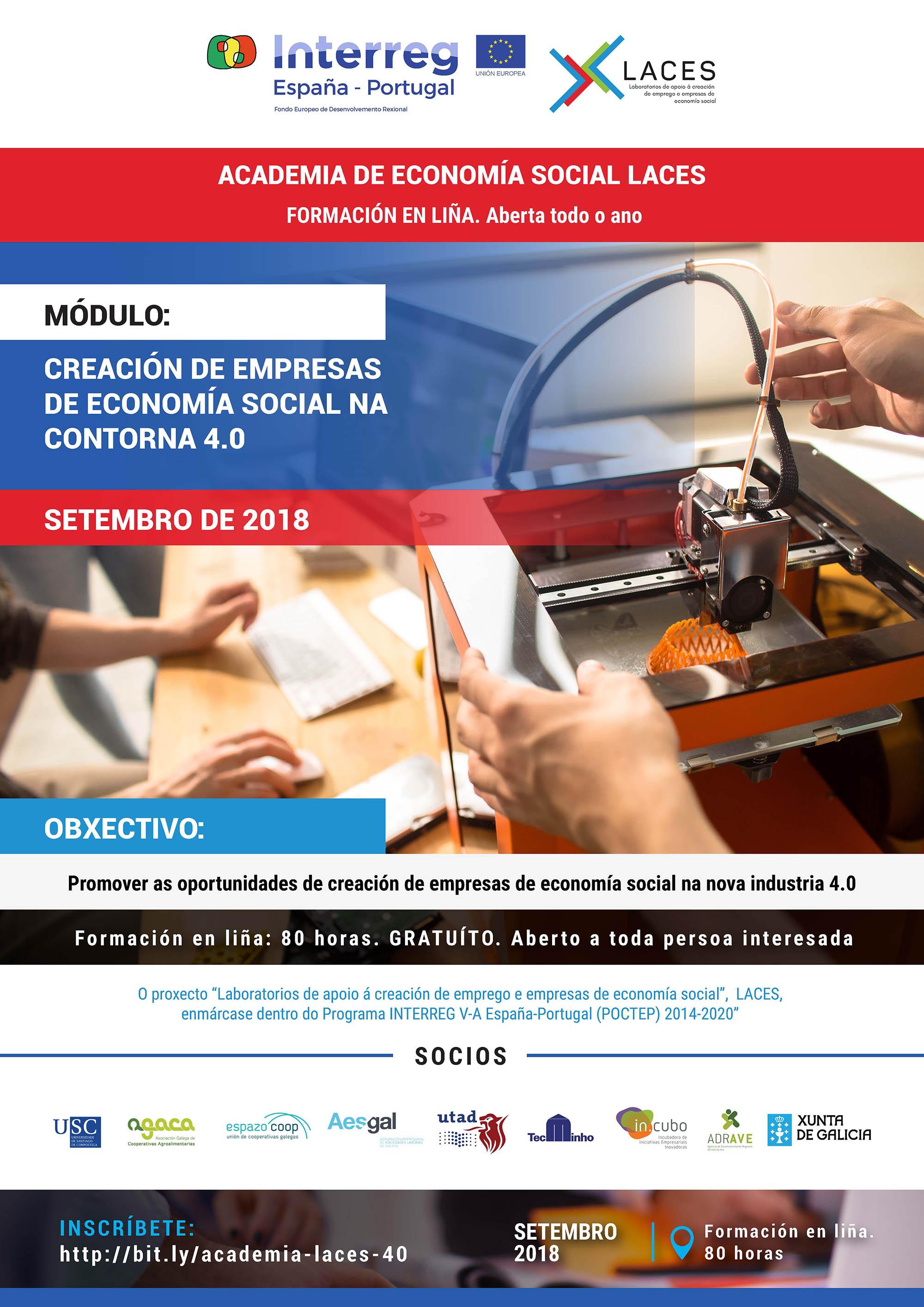 O Módulo de Creación de Empresas de Economía Social na contorna 4.0 comeza en setembro