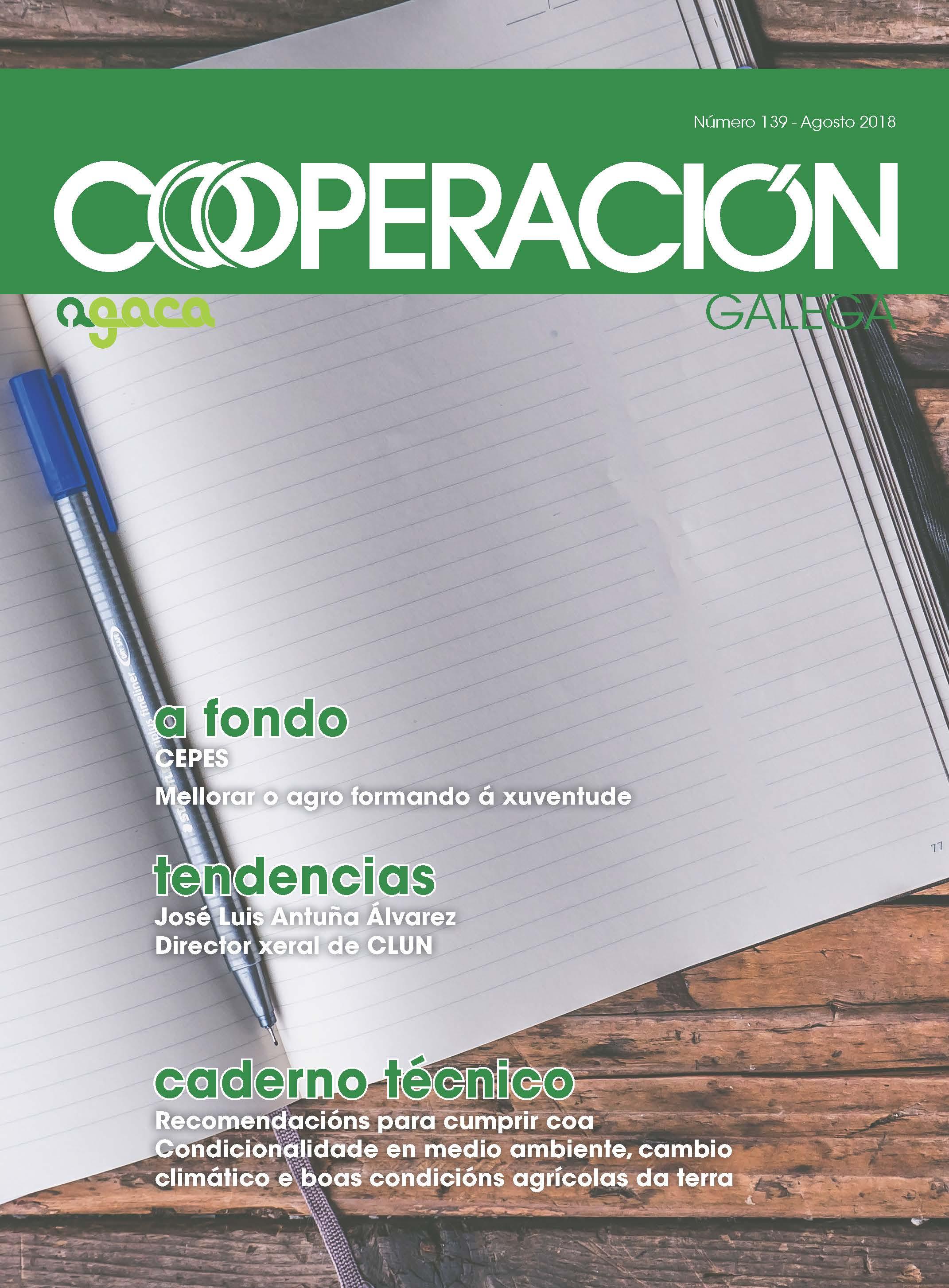Cooperación Galega Nº 139 Agosto 2018