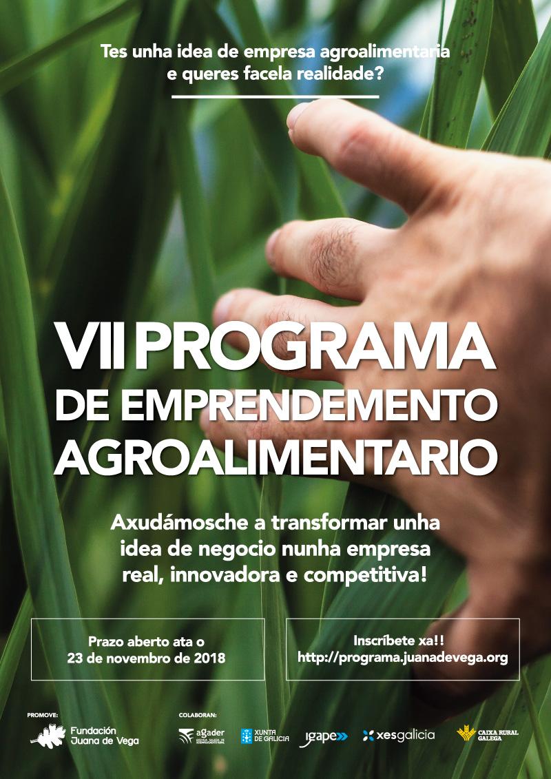 Abre a inscrición ao VII Programa de Emprendemento Agroalimentario ata o 23 de novembro