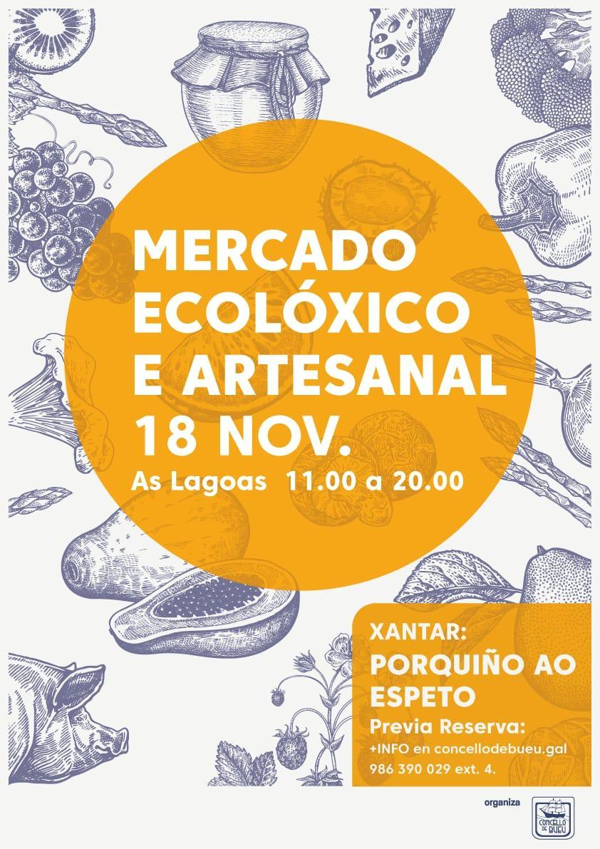 Mercado ecolóxico e artesanal el 18 de noviembre en As Lagoas
