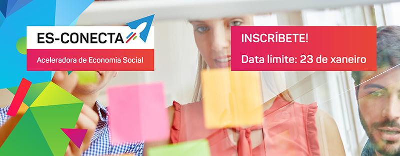 Aberto o prazo de inscrición de proxectos de economia social na aceleradora ES-Conecta do proxecto LACES