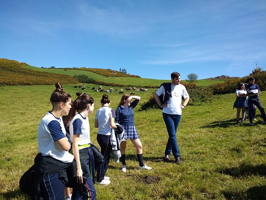 Estudantes de secundaria participaron nun obradoiro sobre cooperativismo en As Vacas da Ulloa