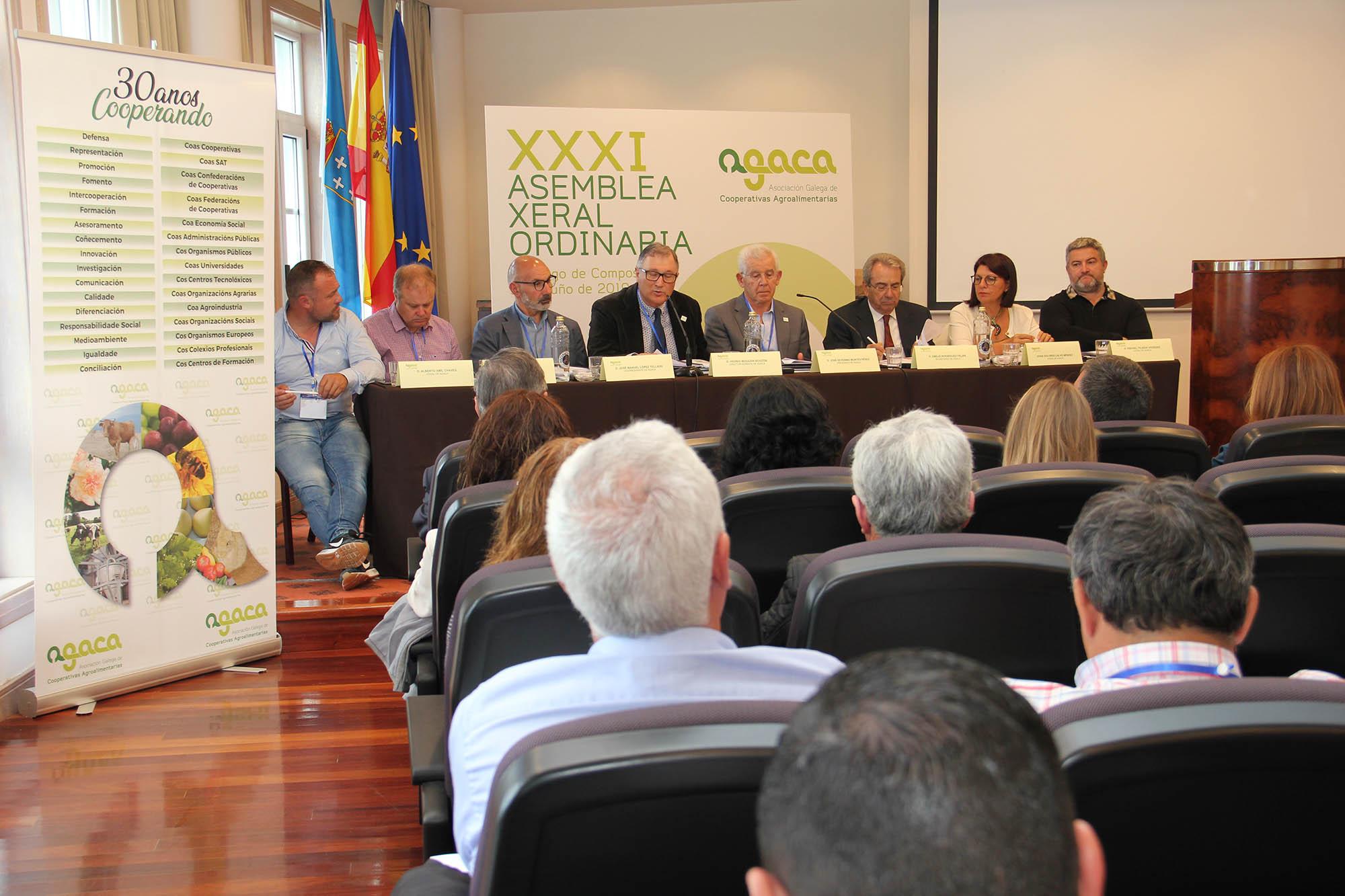 Agaca celebra su XXXI Asamblea General y que Galicia es Región Amiga de la Economía Social