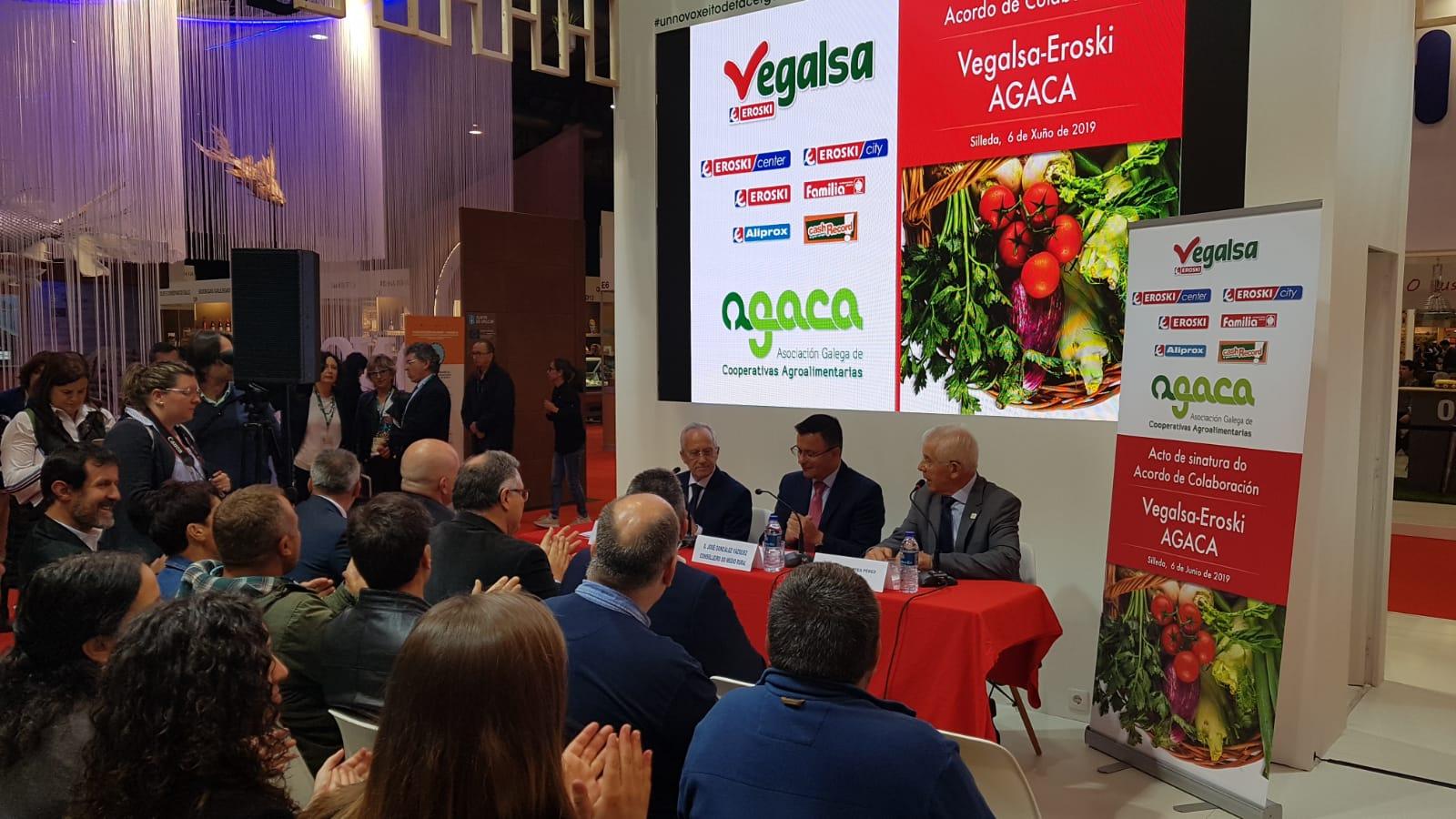 Vegalsa-Eroski destinó más de 1.308.000 euros a compras de productos agrarios de calidad diferenciada en el marco de su convenio con Agaca, un 3,5% más que en 2017