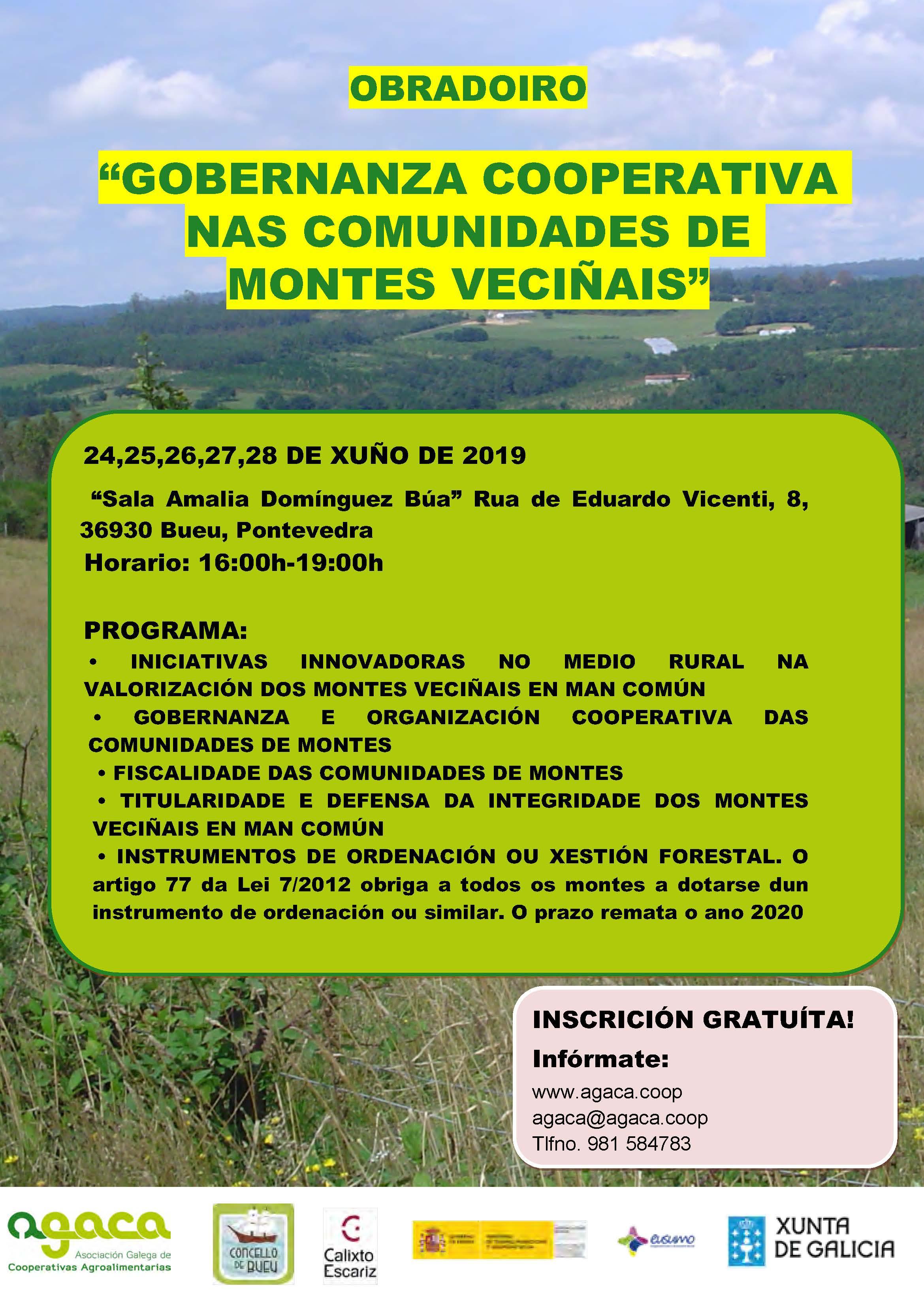 Abre la matrícula para el taller sobre Comunidades de Montes Vecinales en Bueu