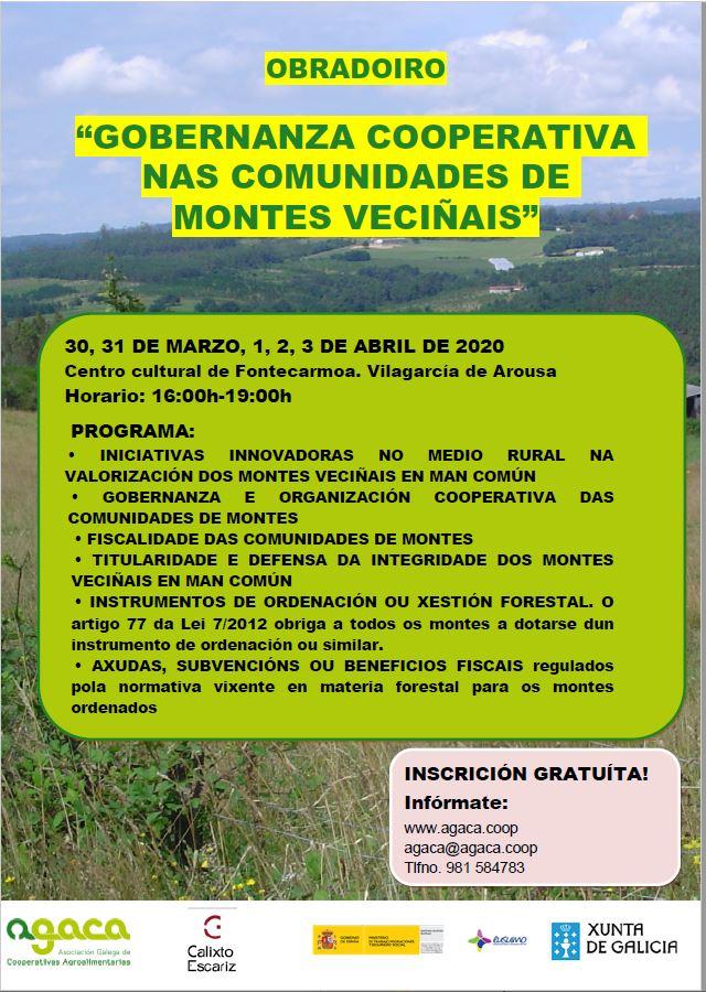 APLAZADO – Abre la matrícula para el taller sobre Comunidades de Montes Vecinales en Vilagarcía de Arousa