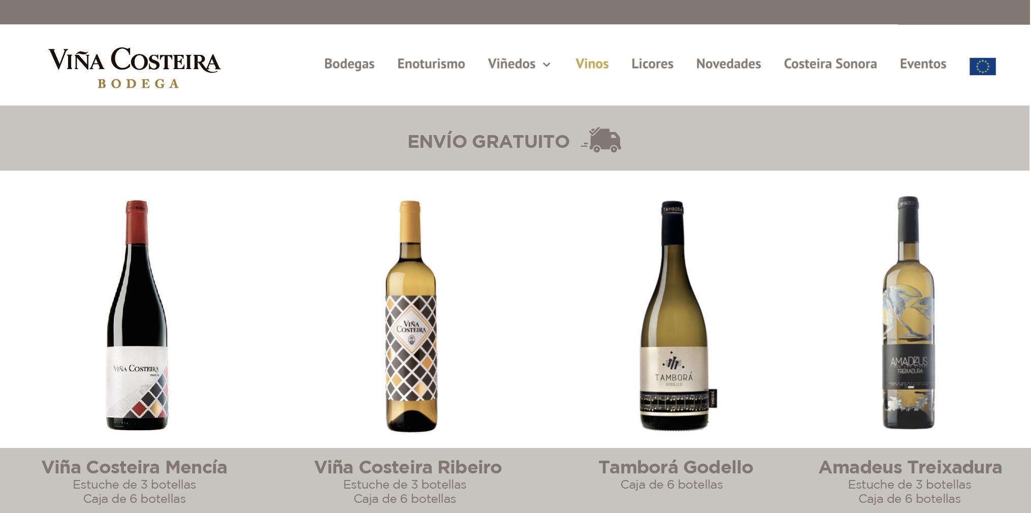 Viña Costeira presenta su Tienda Online con envíos gratuitos