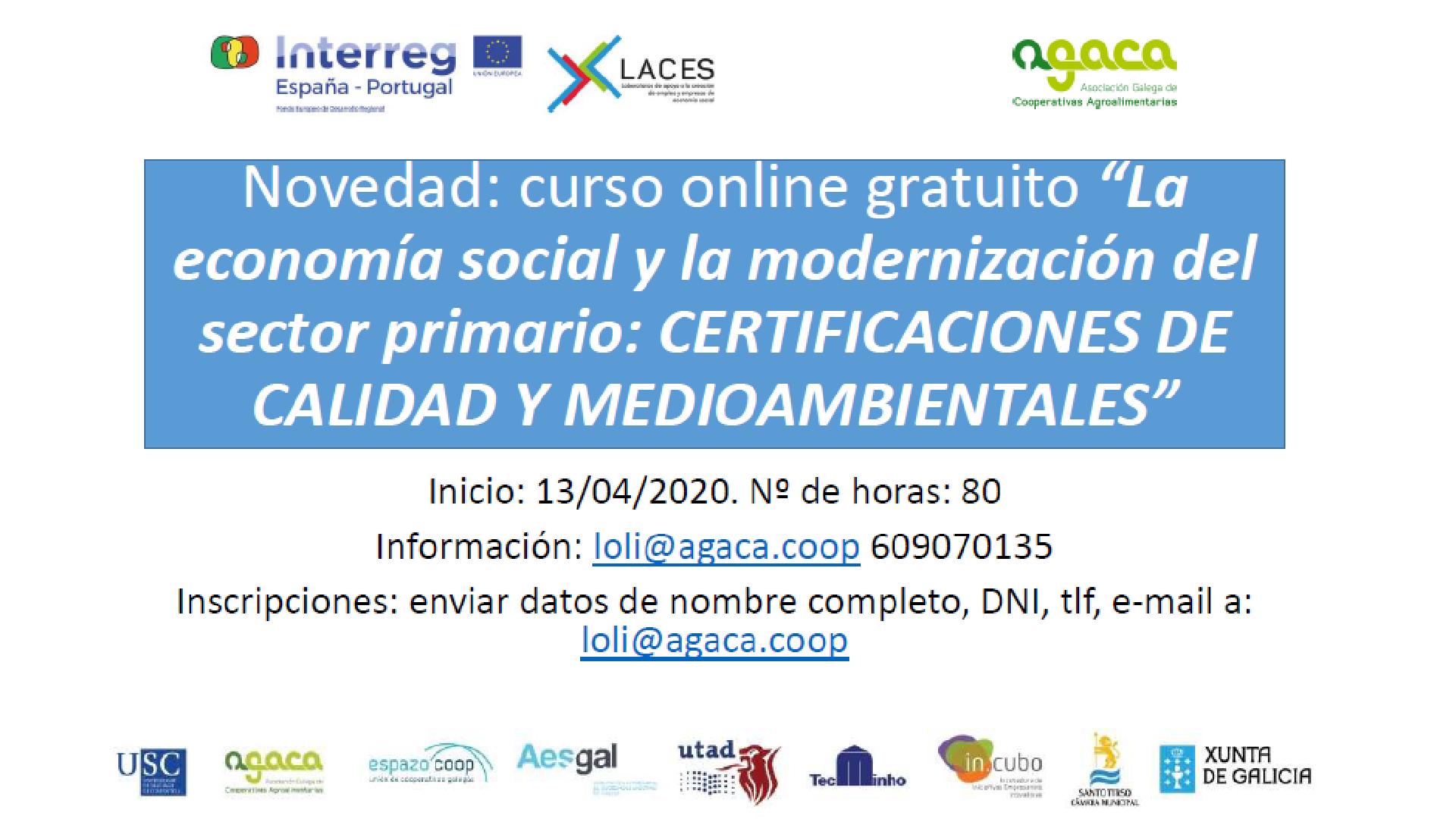 Curso online gratuito sobre certificaciones de calidad y medioambientales