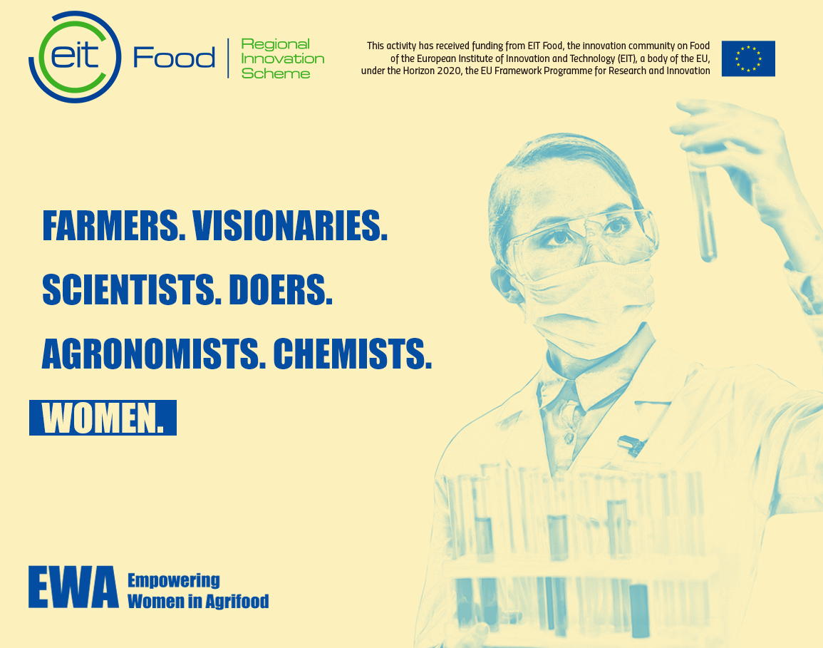 Mulleres emprendedoras no agroalimentario poden optar a 6 meses gratis de asesoramento co programa EWA. Inscrición ata 15/06/2020