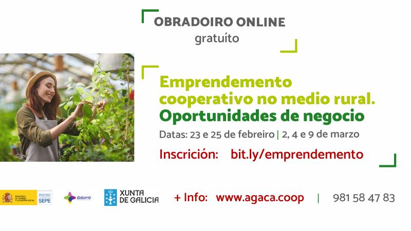 Matrícula aberta! Agaca promove o emprendemento cun obradoiro de oportunidades de negocio