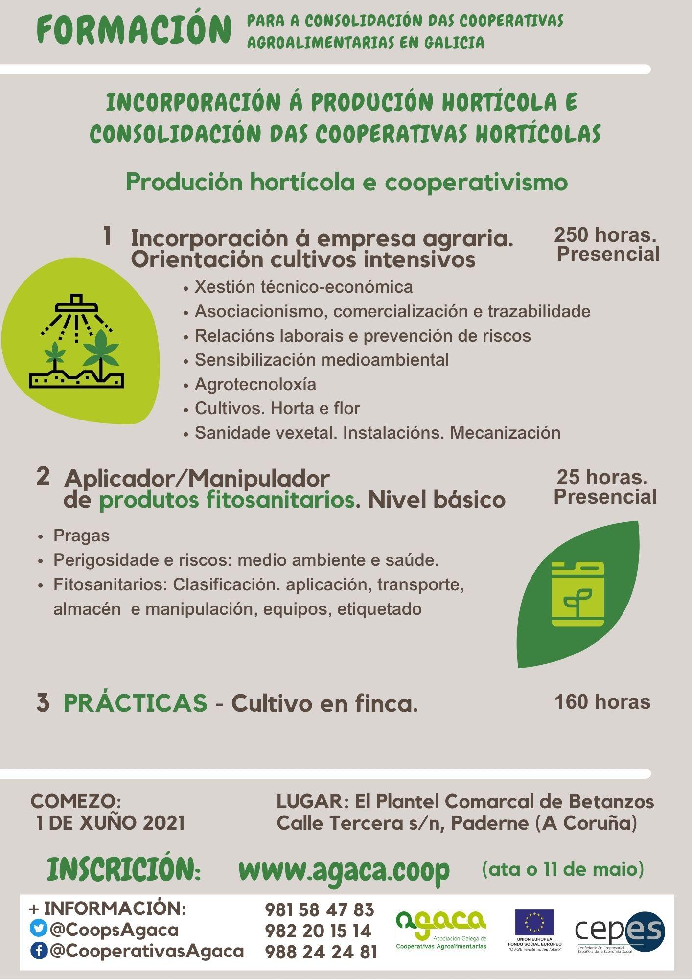 — INSCRIPCIÓN: Programa Incorporación a la producción hortícola (plazo: hasta el 11 de mayo)