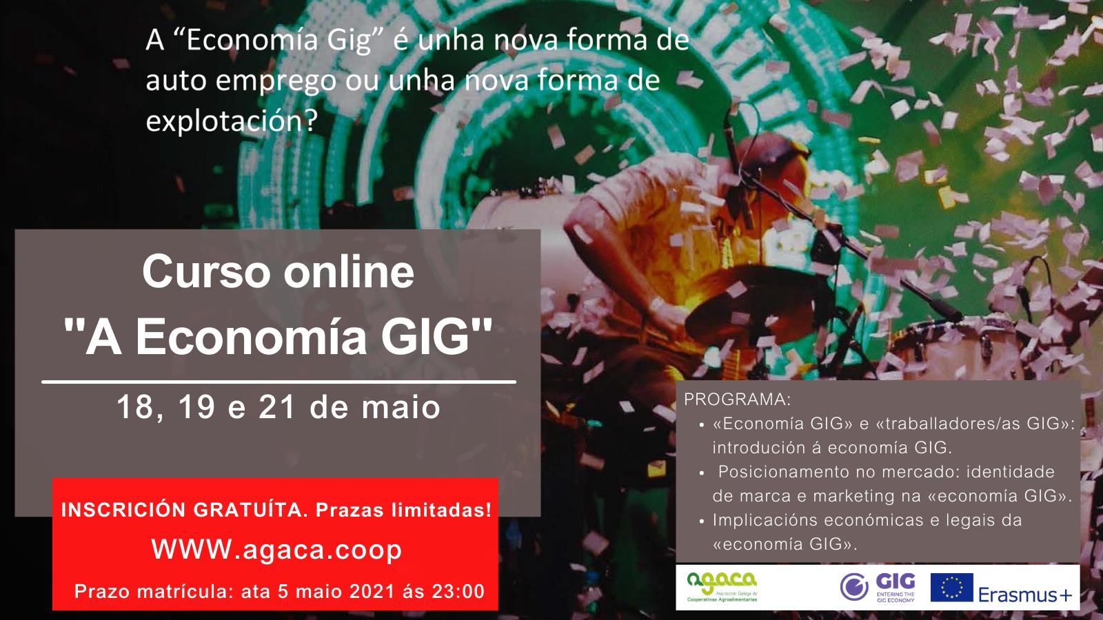 — INSCRIPCIÓN: Curso sobre GIG-ECONOMY (18,19 y 21  de mayo) ¿Nueva forma de auto-empleo o de explotación?