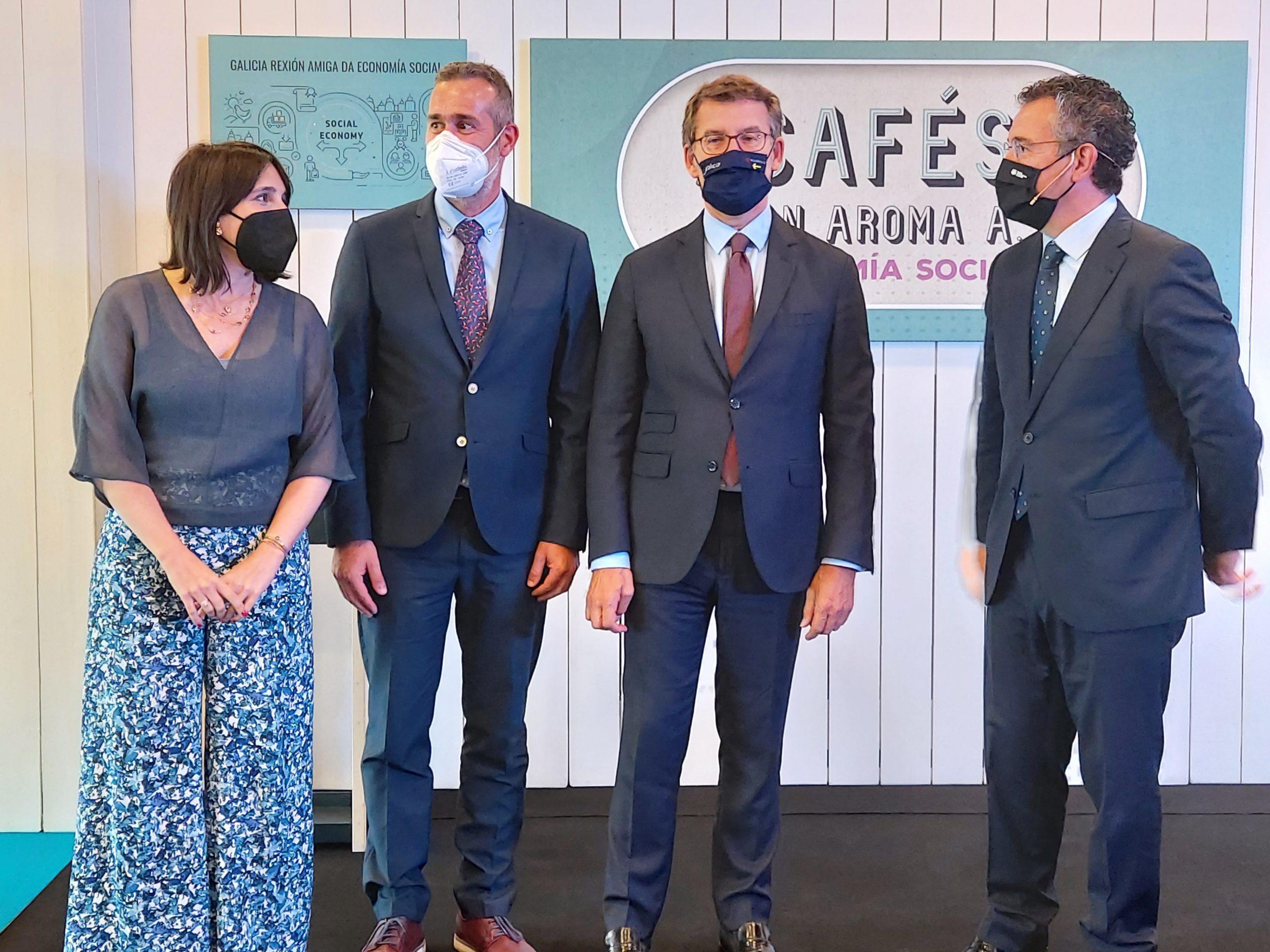 El presidente de la Xunta respalda la petición del Foro y apoya la creación de un Clúster gallego de Economía Social
